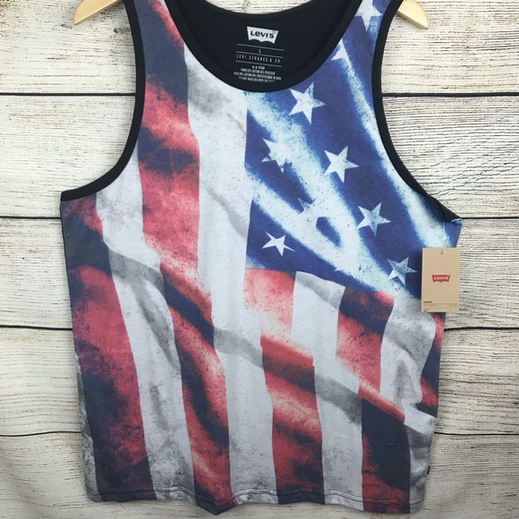 8400a2697f4049 Levi s American flag tank top